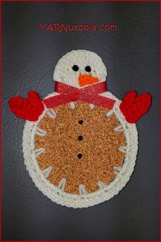 Crochet Tutorial: Winter Snowman Coasters | YARNutopia by Nadia Fuad