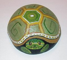 Turtle Painted Rocks | koi pond rock sold beaver rock front and side view sold turtle rock ...
