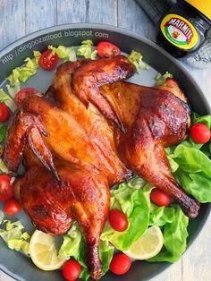 Miki's Food Archives : Honey Glazed Marmite Roast Chicken 蜜汁妈蜜烤鸡