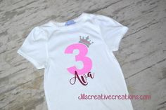 Personalized Princess Birthday T-Shirt