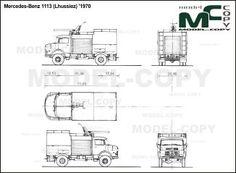 Mercedes-Benz 1113 (Lhussiez) '1970 - blueprints (ai, cdr, cdw, dwg, dxf, eps, gif, jpg, pdf, pct, psd, svg, tif, bmp)