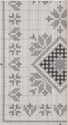 Hardanger doily chart - some of this might work for chicken scratch Hardanger Embroidery, Paper Embroidery, Learn Embroidery, Embroidery Stitches, Embroidery Patterns, Cat Cross Stitches, Cross Stitching, Cross Stitch Patterns, Crochet Doily Patterns