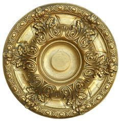 Acanthus Gilt Medallion - World of Decor Accent Ceiling, Ceiling Decor, Ceiling Lights, Frames Direct, Ceiling Fan Downrod, Round Chandelier, Thing 1, Trim Work, Moldings And Trim