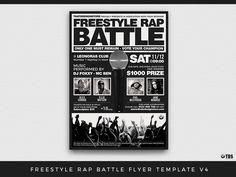A Flyer Design For A Comedy Style Rap Battle Event  Print Design