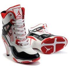 wholesale dealer eedd6 0f5e6 www.asneakers4u.com  Nike Air Jordan 4 Heels Black White Red Nike High