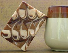 Chai Latte Goat's Milk Soap, CP by Rain Tree Botanicals.