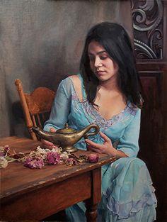Three Wishes by Ardith Starostka Oil ~ 27 x 20