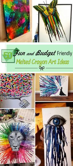 Fun and Budget Friendly Melted Crayon Art Ideas!