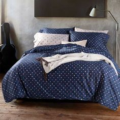 New Romantic Egyptian Cotton Bed Sets King Sheets, Bed Sheets, Egyptian Cotton Bedding, Cotton Bedding Sets, Cotton Duvet, California King Bedding, Linen Duvet, Blue Bedding, Cool Beds