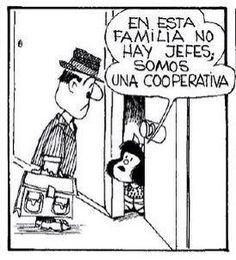 Mafalda / Somos una cooperativa.