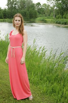 Simple summer jersey maxi dress (DIY)  ~~ great base for our butterfly fringe dress ....I know this stuff, but love the visual