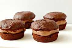 Little Chocolate Dessert Cakes with Chocolate Whip...