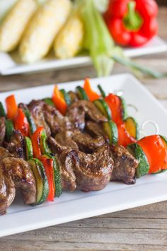 Grilled Flank Steak Kebabs