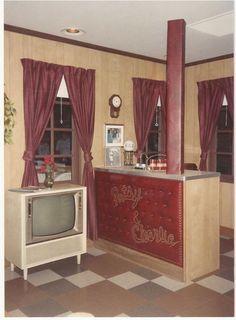 Patsy's basement rec room. Restored at the Opry museum, original furnishings.