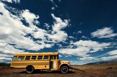 school bus. Next stop nowhere