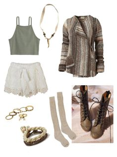 Designer Clothes, Shoes & Bags for Women Ballard Designs, Deer, American Eagle Outfitters, Earth, Shoe Bag, Knitting, Brown, Lace, Polyvore
