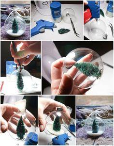 DIY Snow Globe Ornament!