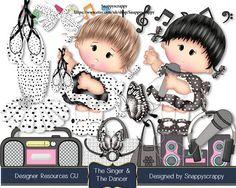 Music Scrap Kits Digital Scrapbooking Designer by Snappyscrappy
