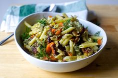 pasta salad with roasted carrots and sunflower seed dressing – smitten kitchen