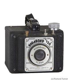United States Cameras: Vagabond 120 Everyready Flash camera