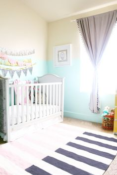 mint, pink, black, gold and silver nursery