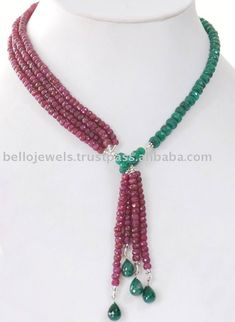 Natural Ruby & Emerald Handmade Beaded Jewelry India - PayPal, View ruby jewelry necklace, Bello Jewels Product Details from BELLO JEWELS PVT LTD on Alibaba.com