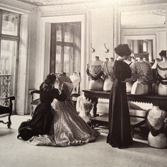 Draping blouses in Worth, Paris 1907.
