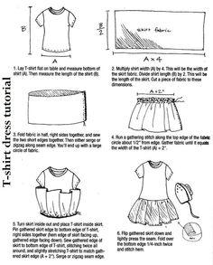 T-shirt dress tutorial