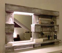 Estante com Espelho e Foco de Luz Alvalade - imagem 1