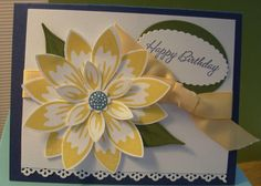Spring time birthday --- SU Build a Blossom Stamp set and coordinating punch