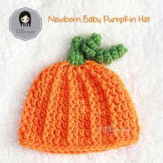 Ravelry: Newborn Baby Pumpkin Hat pattern by Doris Yu Crochet Pumpkin Hat, Crochet Fall, Halloween Crochet, Crochet Bebe, Crochet For Kids, Free Crochet, Quick Crochet, Crochet Baby Hat Patterns, Crochet Baby Hats