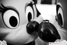 Disney Mickey and Minnie with the wedding rings. Adorable