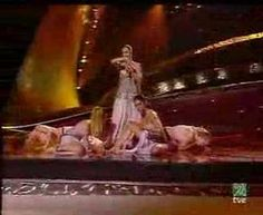 """The live performance of the Turkish entry in the Eurovision Song Contest 2003 (Riga, Latvia) which was """"Everyway That I Can"""" performed by Sertab Erener. At the end of the contest, Turkey won with 167 points. Television Program, Dance Videos, Music Videos, Hetalia, Bingo, Eurovision France, Sweden, Eurovision Songs, Musica"""