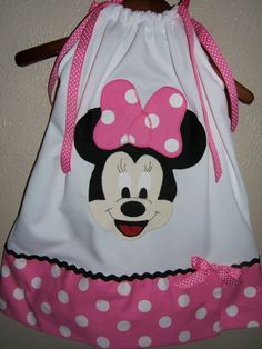 Boutique Minnie Mouse White and Hot Pink Dot by mistysboutique, $20.00