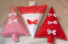 Ozdoby świąteczne, zestaw choinek z filcu - FeltThis - Dekoracje bożonarodzeniowe