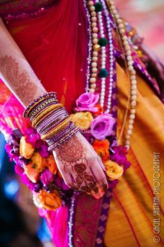 tAnirika, Floral Jewelry, Suhaag Garden, Indian Wedding
