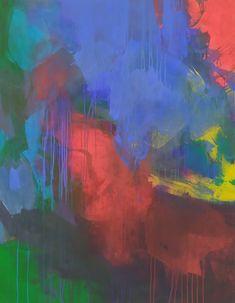 Paysage Abstrait II Collection « Paysages Abstraits » Format 114 x 146 cm Acrylique et aérosol 2021