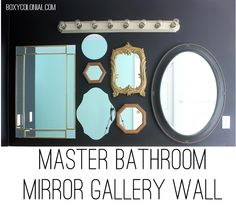 Mirror Gallery Wall in Master Bath for awkward vanity/sink placement