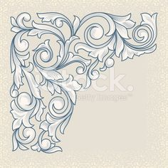 Vintage floral corner design royalty-free stock vector art