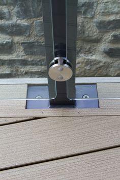 Vertigrain timber composite decking and glass balustrade