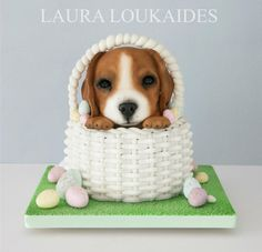 Ernie the Easter Puppy - Cake by Laura Loukaides