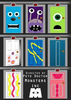 Awesome Monsters, Inc. poster...might paint one of these on my door...