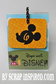 Disney Countdown from Scrap Inspired: Like how she used a clear frame, idea could be used for many countdown reasons. Disney World Tips And Tricks, Disney Tips, Disney Cruise, Disney Love, Disney Magic, Walt Disney, Disney World Countdown, Disney World Trip, Disney Destinations