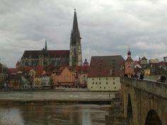 Servus! (Hello in Bavarian) Everything starts here, in Regensburg-Baryern Deutschland. Central Europe perfect to travel arround! ERASMUS city and wonderful place to live.
