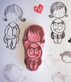 We thought it was cool to see the artist's process with her stamps!