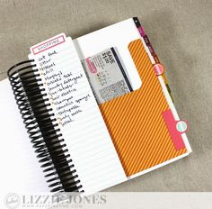 Tabbed Coupon Pocket and Shopping List by Lizzie Jones for Papertrey Ink (March 2015)