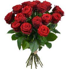 Bouquet de grandes roses rouges