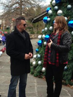 Interviewing with Chad Netherland before the start of the @GatlinburgCOC Christmas parade #gatlinburgnosechristmas