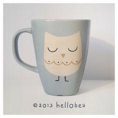 Hello bea: Owl Mug Pinned by www.myowlbarn.com