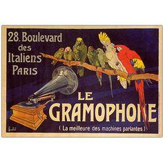 'Le Gramophone' Framed Art